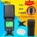 Для Nikon Canon DSLR Камеры Speedlite HSS 1/8000 s Вспышка TTL Вспышка INSEESI IN586EXII В. С. YONGNUO YN568EX YN565EX YN-565EX