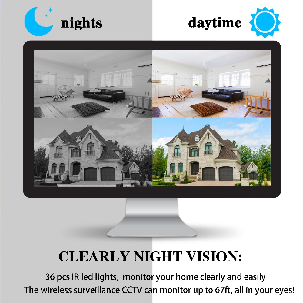 JOOAN Wireless ip cam Security Camera HD 1080P Bullet Camera outdoor IP66 Waterproof 50ft Night Vision Home Video Surveillance
