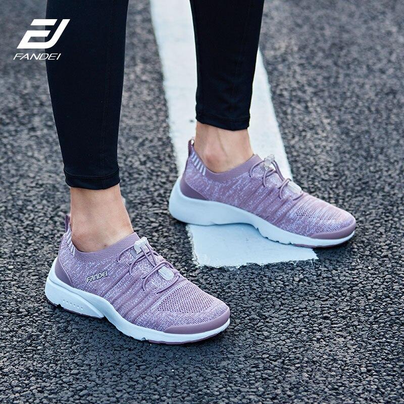 FANDEI di nuovo disegno scarpe da corsa per le donne pattini di sport delle donne scarpe da ginnastica di marca zapatillas hombre deportiva mesh traspirante lace-up