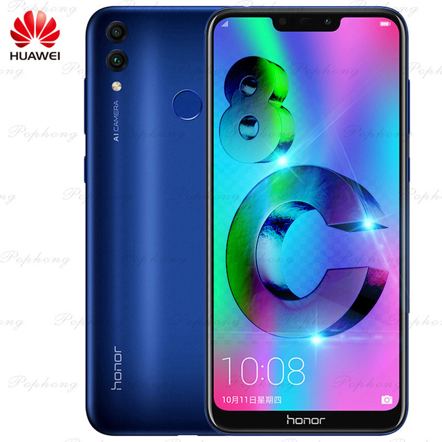Huawei Honor 8C Octa Core Smartphone 6.26''Full Screen HD+1520x720 Qual-comm Snapdragon 632 Android 8.1 4000Mah 3 Cards VoLTE