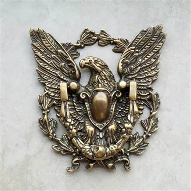 Vintage Brass Door Knocker Eagle Bird Retro Home Decoration