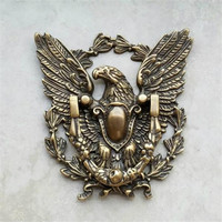 1 Piece Antique Brass Eagle Ring Pull Door Pulls Door Knockers Metal Handcrafted Latch with Semi Circular Handle Wall Gate Decor