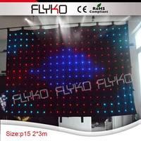 2x3m P15 chrismas party wedding decoration video curtain led lighting disco light led vision curtain