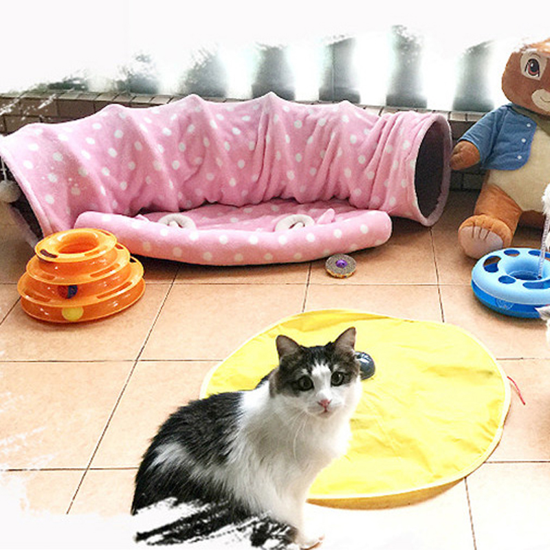 7b3e52e10b22 US $44.37 |Cute Cat Bow House Dog Bed Pet Bed Warm Soft Dogs Kennel Dog  House Pet Sleeping Bag Cat Bed Cat House Cama Perro GW0122-in Houses,  Kennels ...