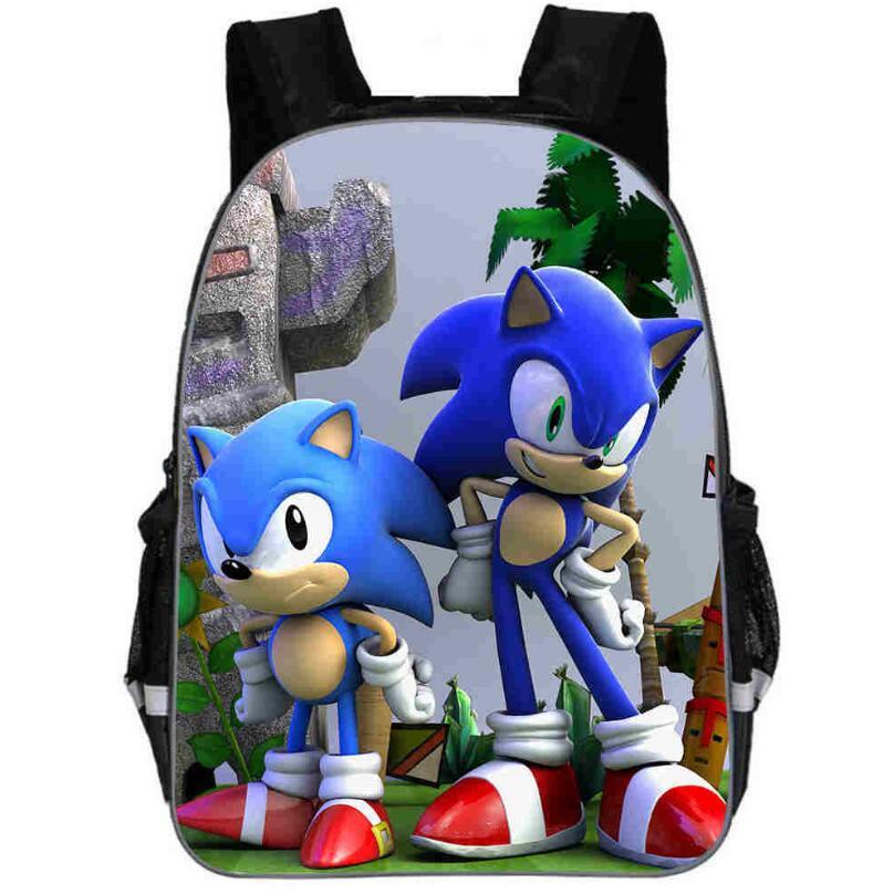 11-16 Inch Children School Bags Cartoon Doll Super Mario Sonic Backpacks For Boys Girls Mario Bros Bag Students Birthdays Gifts