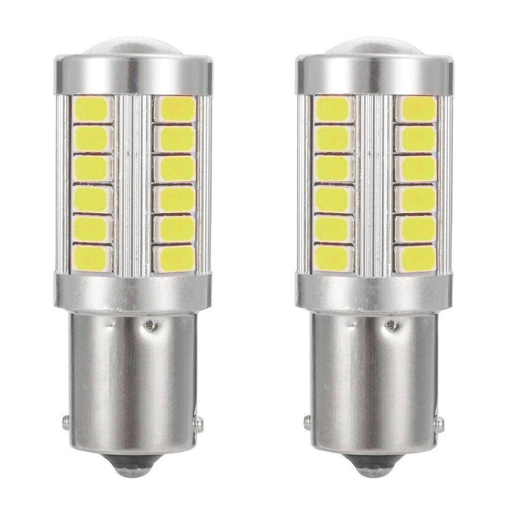2pcs Super Bright 1156/BA15S/P21W 1157/BA15D/P21 5W 33SMD LED Car Turn light Reverse Lamp Brake light Tail Lamp Rear Bulb 12V pointpurple d1212r 1157 5w 80lm 2 led 10 smd 5050 led super bright car brake light 2 pcs 12v