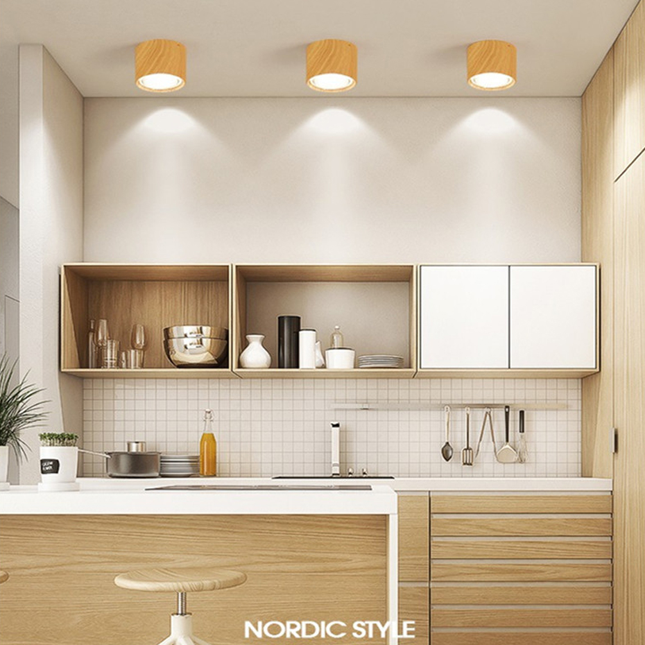 HTB1vN90aLvsK1Rjy0Fiq6zwtXXaD [DBF]High Bright Epistar CREE Ceiling Lights 3W 5W 7W 10W 12W 15W Nordic Wood Surface Mounted Ceiling Spot Light for Bar Kitchen