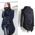 down coat Women Solid fashion new style Turtleneck Sexy girl coats trench coat for women abrigos mujer