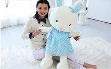 Stuffed animal 95cm cute rabbit pink or blue  beautiful skirt rabbit plush toy throw pillow soft doll gift w3383