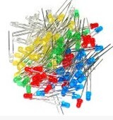 100pcs/lot F3 5 Colors Ultra Bright 3MM Round Water Clear Green/Yellow/Blue/White/Red LED Light Lamp Emitting Diode Dides
