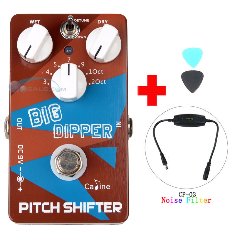 Caline CP-36 Guitar Effects Pedals Pitch Shifter Big Dipper Guitar Effect Accessaries with Ture Bypass and Caline Noise Filter caline cp 35 ac simulated guitar effects pedals with true bypass acoustic effects guitars and caline cp 03 noise filter