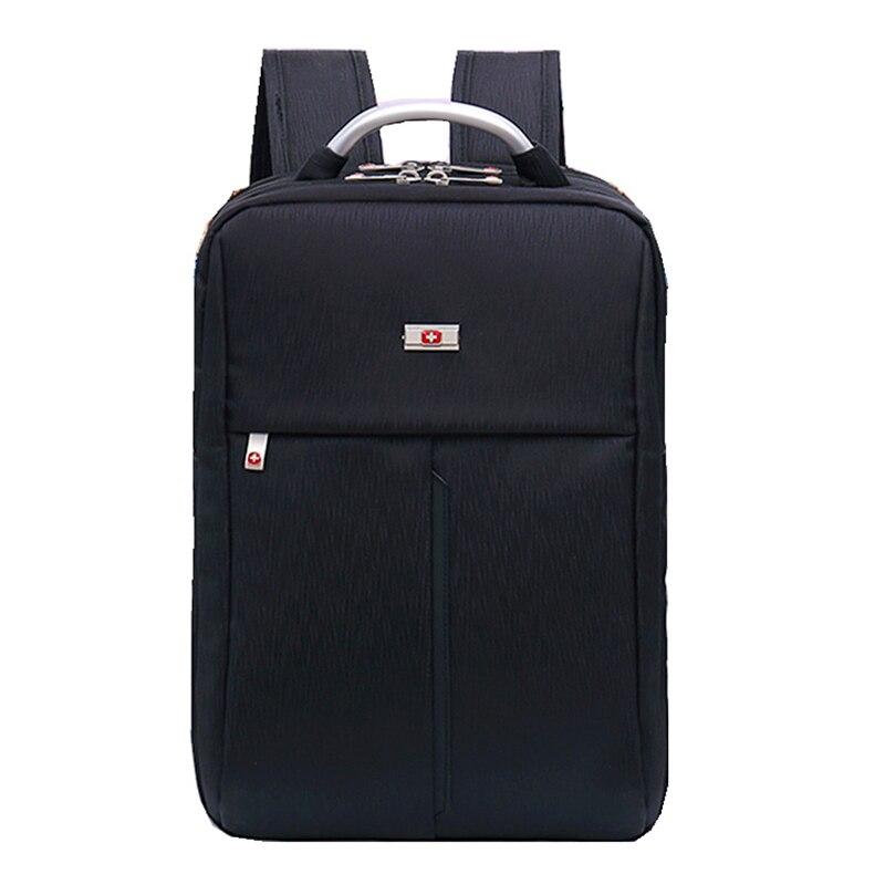 bilder für Neue Schweizer Freizeit Rucksack Laptop Einfache Hochschule Stil Schultasche Moderne Unisex Junge Mann Frau Schwarz Rot Farbe Daypack Rucksack