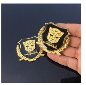 Image 1 - Metal  VIP Transformers 3D Car Sticker Individual  for car auto window tail car body decoration car styling