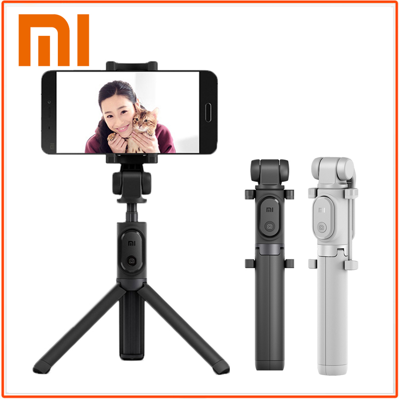 Trípode plegable Original Xiaomi Selfie Stick Bluetooth Selfiestick con obturador inalámbrico Selfie Stick para iPhone Android Xiaomi