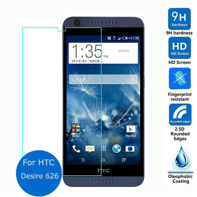 2pcs For HTC 626 Dual Sim Tempered Glass Film Case 2.5D Safety Protective Screen Protector For HTC Desire 626 626s D626W 626G