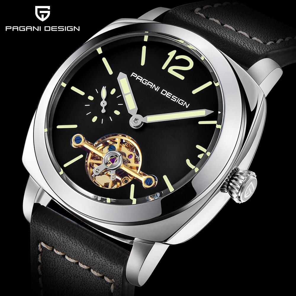 PAGANI แบรนด์แฟชั่น Casual ธุรกิจนาฬิกาผู้ชายนาฬิกาข้อมืออัตโนมัติกันน้ำชายทหารกีฬา Relogio Masculino-ใน นาฬิกาข้อมือกลไก จาก นาฬิกาข้อมือ บน   1