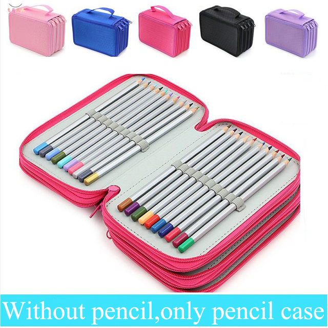 72 Holders /52 Holders Portable Canvas School pens Pencil Cases  High-capacity Pencil Bags