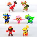 7pcs/set Canine Patrol Dog Toys Russian Anime Doll Action Figures Car Patrol Puppy Toy Patrulla Canina Juguetes Gift for Child