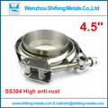 "4.5"" inch Full made of 304 stainless steel clamp and flanges T bolt Quick opening V band clamp with male and female flanges kit"