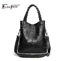 New 2016 Fashion Genuine Leather Women Handbag Patchwork Sheepskin Women Shoulder Bag Famous Brand High Quality