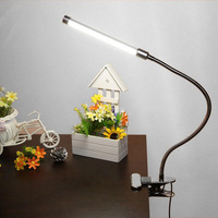 6W Flexible USB Clipper Clip On Adjustable Multi Angles LED Lamp Eye Protection Reading Light Table