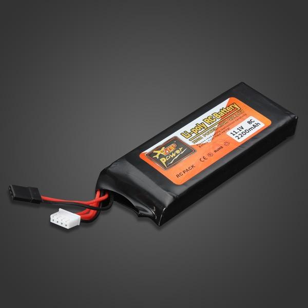 1pcs High Quality ZOP Power 11.1V 2200MAH 8C Lipo Battery For FUTABA - Mainan kawalan radio - Foto 4