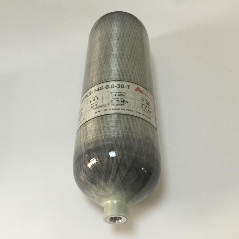 Air CO2 Oxygen Hydrogen Used Tank SCBA Diving Tank Cylinder 4500psi 6 8L Composite Carbon Fiber