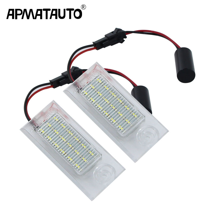 2pcs Canbus White Led License Plate Light no error for <font><b>Audi</b></font> <font><b>A6</b></font> <font><b>C5</b></font>/4B Sedan 1997-2004 Number Lamp 1998 <font><b>1999</b></font> 2000 2001 2002 2003 image
