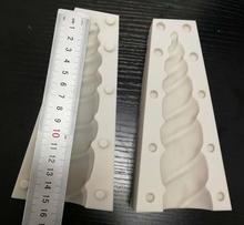 كعكة أداة 6 بوصة 3D يونيكورن القرن قالب من السيليكون العفن الزفاف الشوكولاته أدوات فندان كعكة الخبز الجليد الجليد