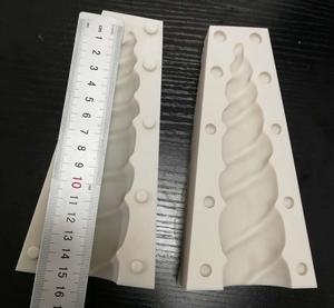 Image 1 - Cake Tool 6 inch 3D unicorn horn Silicone mold Mould  Wedding Chocolate tools fondant Cake Baking Icing Ice