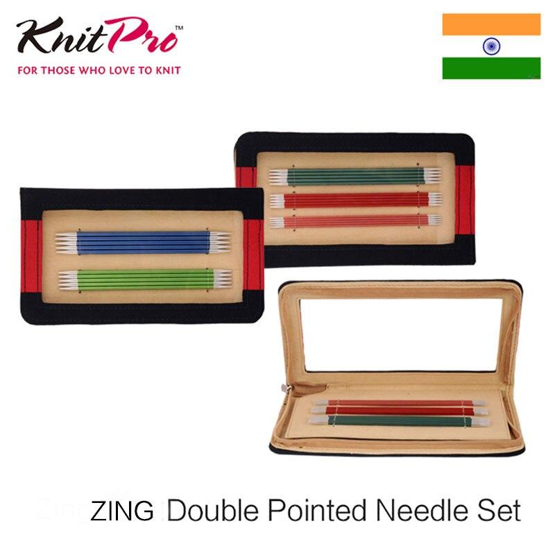 Knitpro Zing 15/20 см двойной острым набор игл