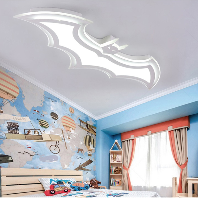 Потолочный светильник с Бэтменом для детей, потолочный светильник для комнаты, s 110V 220 V, современный потолочный светильник, простой светодиодный светильник с пультом дистанционного управления