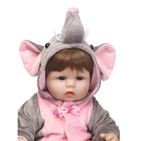 16 Lifelike Reborn Elephant Girl Babies Soft Silicone Baby Dolls 40 Cm So Lovely Newborn Baby