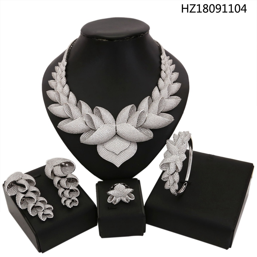 YULAILI Free Shipping Fashion Flower Design Gold Color Brass Wedding Ladies Costume Jewelry Sets jakob buhrer galileo galilei