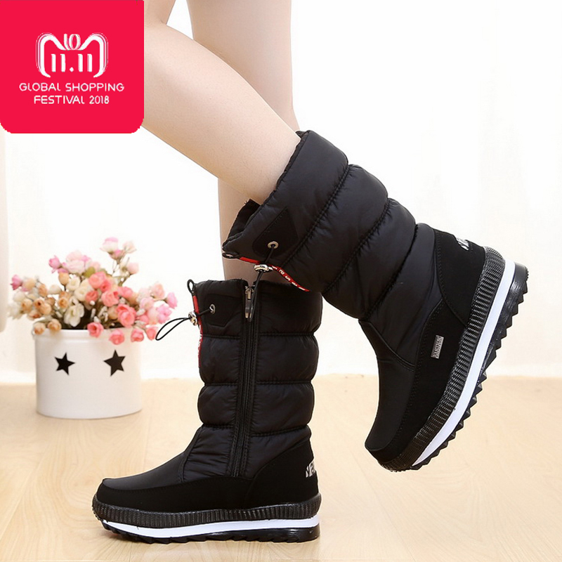 Women's boots 2018 winter shoes thick plush non-slip waterproof snow boots women winter boots botas mujer for - 40 degrees сумка oboly obl047 2015 drew bag page 3