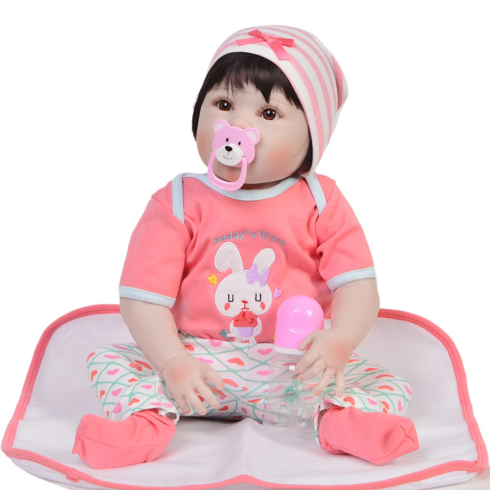 23 Inch Bebes Reborn Girl Doll Full Silicone Vinyl reborn baby dolls lifelike Princess Baby Toy Doll For Childrens Day Gifts23 Inch Bebes Reborn Girl Doll Full Silicone Vinyl reborn baby dolls lifelike Princess Baby Toy Doll For Childrens Day Gifts