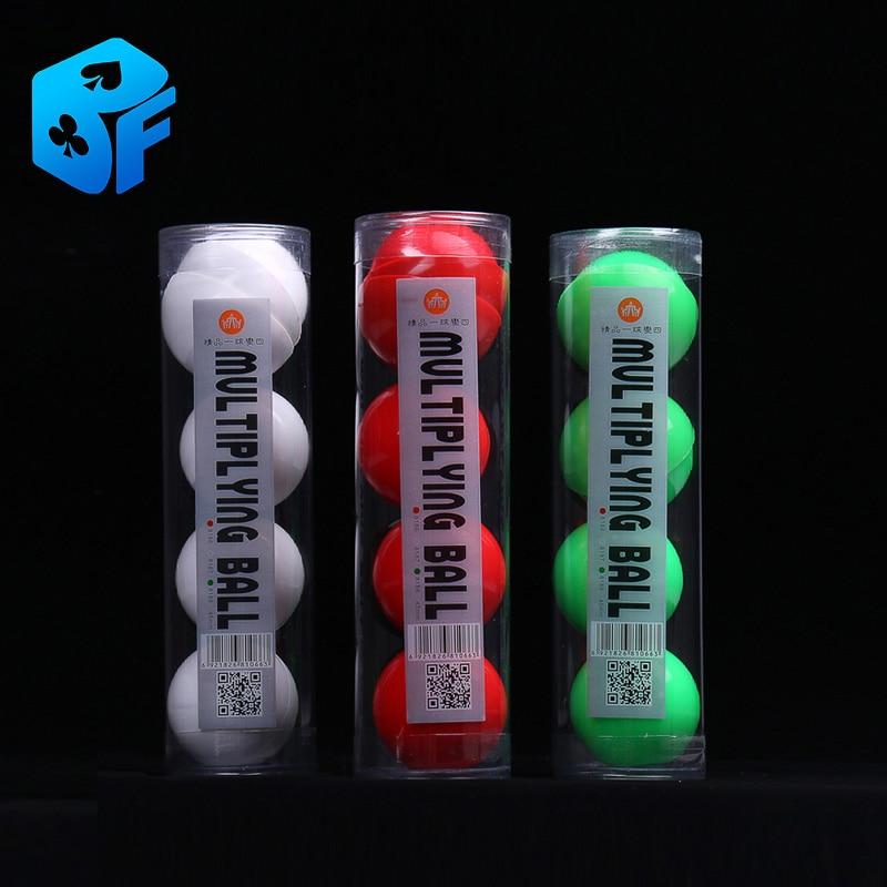 Balles de multiplication en caoutchouc souple de haute qualité (blanc ou rouge)/meilleure balle à quatre/tours de magie/ensembles de magie/accessoires de magie