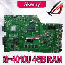 Akemy X751LA материнская плата для ноутбука ASUS X751LA X751LAB X751LD X751L X751 тесты оригинальная плата 4 г оперативная память I3-4010U