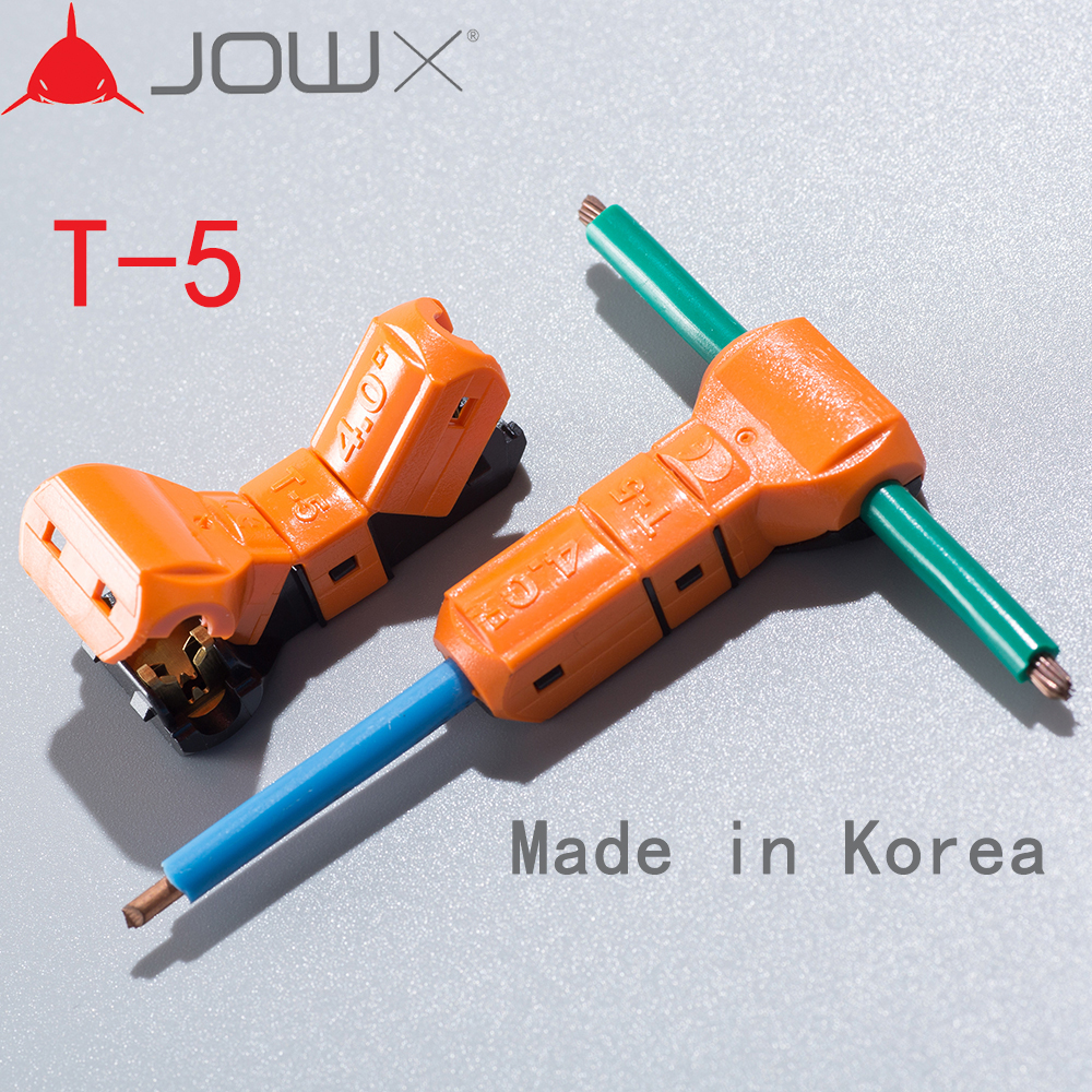 JOWX T-5 10PCS For 1 Pin 12~11AWG 4SQMM Non-stripped Wire Ca
