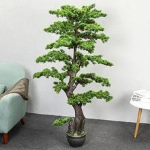 Искусственное дерево 1,6 метров для гостей, сосновое искусственное дерево, большое растение для зелени, бонсай для комнатной гостиной, искусственные растения