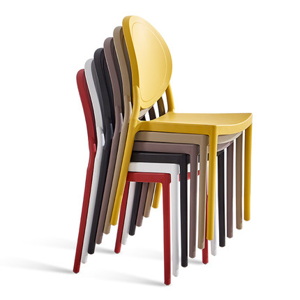 Modern minimalist home dining chair adult Nordic casual creative American retro plastic dining chair
