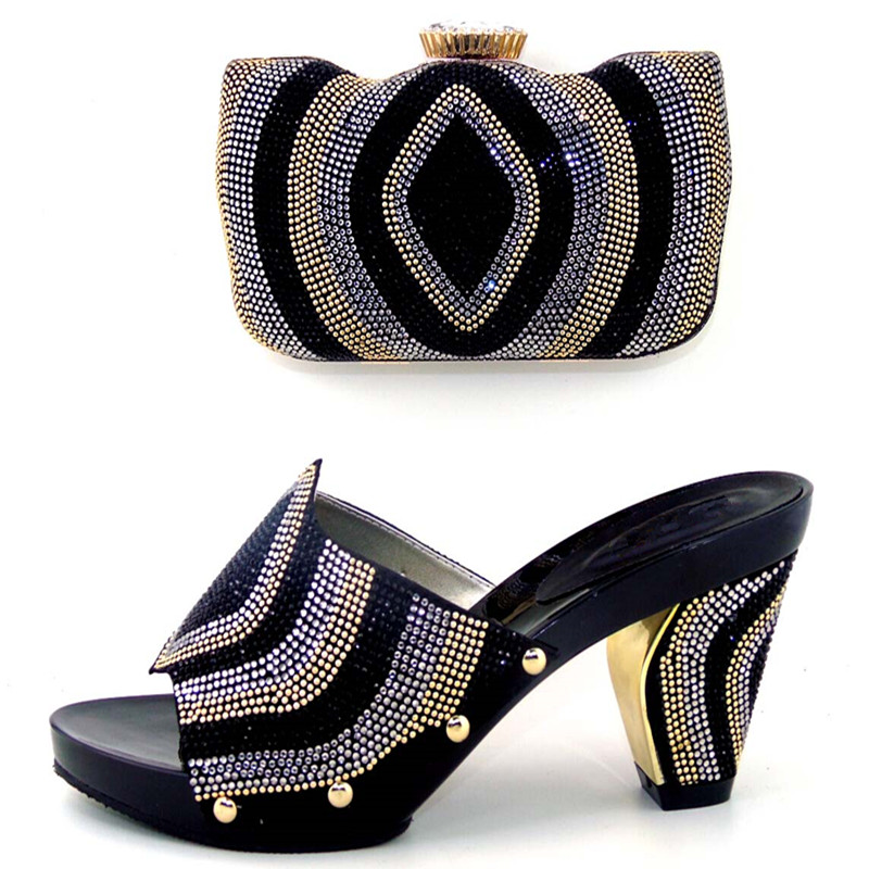 ФОТО New fashion lady Italian design matching shoes and bag set for wedding and party  WDL1-13