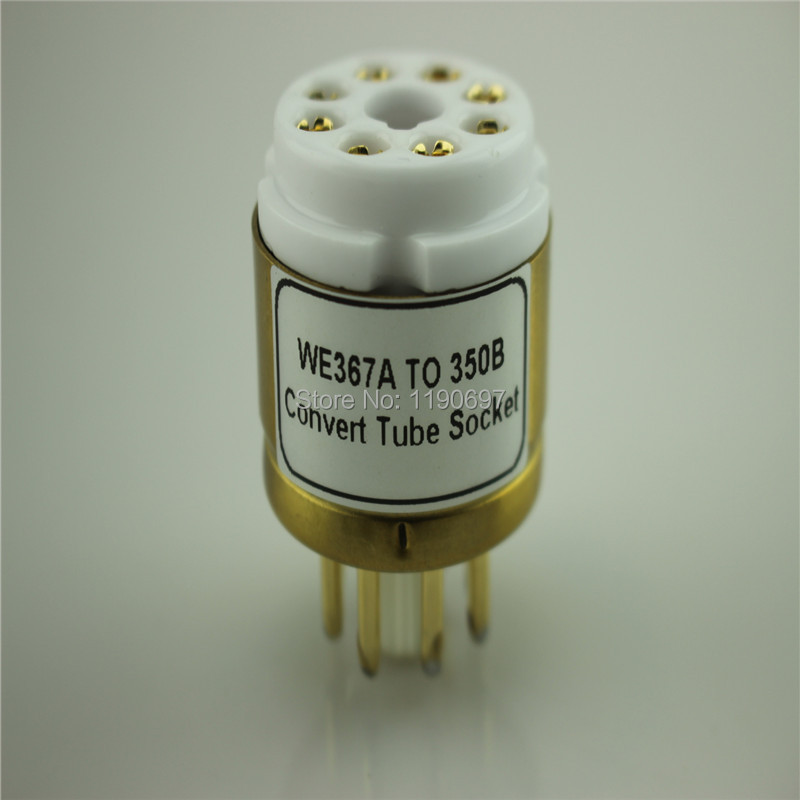 1PC WE367A (Top) TO 350B (Bottom) Convert Tube Socket DIY Audio Vacuum Tube Adapter Socket Converter Free Shipping