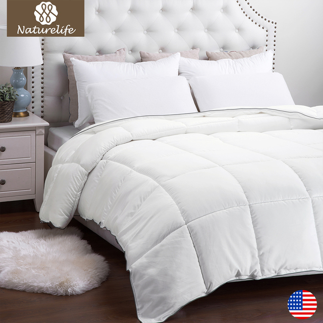 Naturelife Warm New Full Filling Duvet High Quality White Down Duet Breathable Alternative Comforter Edredom