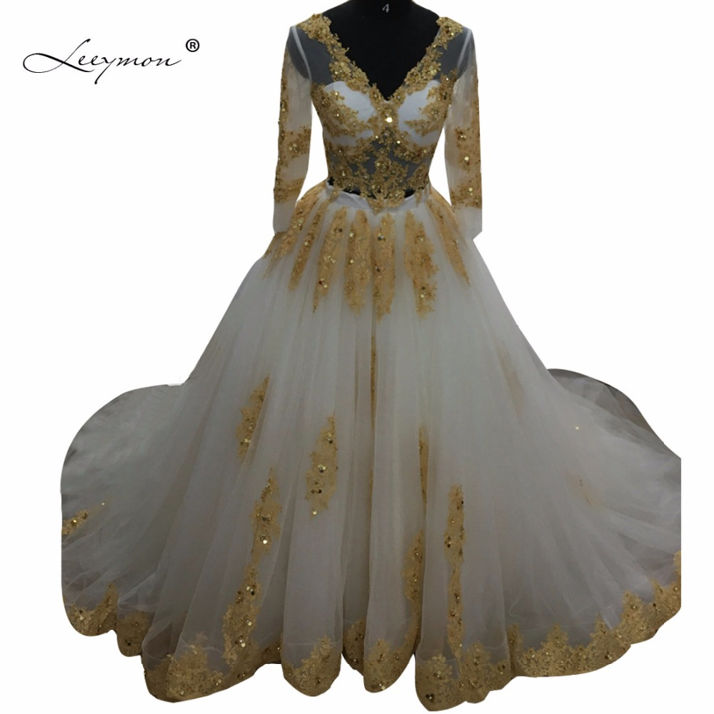 Leeymon/роскошное мусульманское бальное платье со стразами; комплект из двух предметов; свадебное платье белого и золотого цвета; шикарное сва