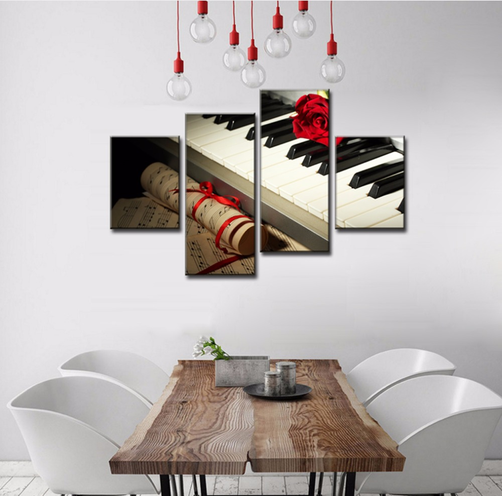 wall pictures for living room 4 piece canvas art posters and HD ...