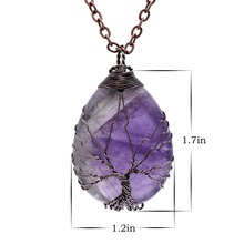Water Drop Crystal Pendant Necklace