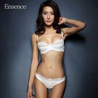 Ensence Women Summer Thin Style Lace Sexy Beauty Bra Sets Girls Breathable Underwear Deep V Lingerie