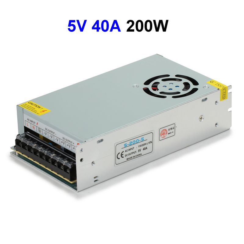 CCTV Cameras DC5V 40A 200W Switching Power Supply Adapter Driver Transformer For LED Strip Light