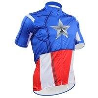 Spider-man kaptan amerika tasarım ropa bici mujer ciclismo forması erkekler kısa kollu mtb bisiklet jersey top cycling gömlek birçok seçim